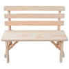 Traditional Style Bench with Back and Wooden Frame - Various Lengths