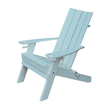 Hampton Adirondack Recycled Plastic Chair with Cupholders - 45 lbs.