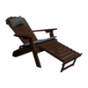 Reclining Adirondack Recycled Plastic Chair with Pullout Ottoman and Folding Frame - 55 lbs.
