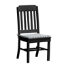 Traditional Armless Dining Chair Recycled Plastic - 25 lbs.