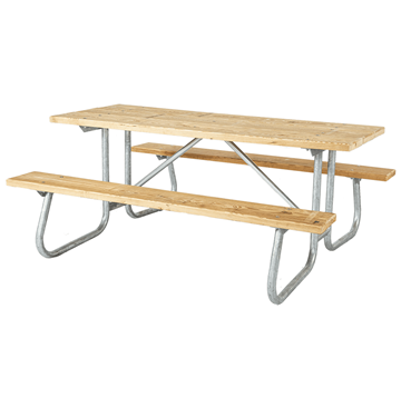 Rectangular Wooden Picnic Tables 8 Ft.