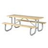 Rectangular Wooden Picnic Tables 6 Ft.