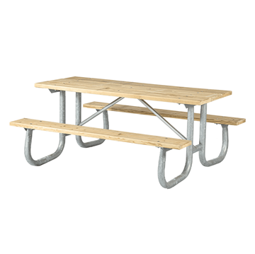 Rectangular Wooden Picnic Tables 6 Ft.