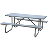 Aluminum Picnic Table 8 Ft. Rectangular with 2 3/8 In. Galvanized Steel