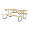 12 Ft. Rectangular Wooden Picnic Table with 2-3/8 In. Galvanized Steel Frame