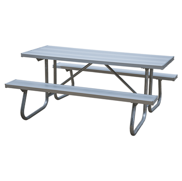 Aluminum Picnic Table 12ft. with Welded 1 5/8 In. Galvanized Steel