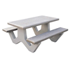 5 Ft. Rectangular Concrete Picnic Table with Bolted Frame, 1385 Lbs