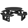 """53"""" Round Recycled Plastic Picnic Table"""