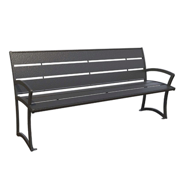 Bryce Steel Bench with Back - 4 Ft., 6 Ft., or 8 Ft.