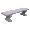 """72"""" Wisconsin Style Concrete Backless Bench, 495 Lbs."""