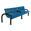 Bench With Back 4 Ft. Add-On Plastic Coated Expanded Metal With 2 7/8 In. Bent Frame, Portable Or SurfaceMount