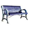 Bench With Back 5 Ft. Plastic Coated Ribbed Steel With Cast Aluminum, Portable Or Surface Mount
