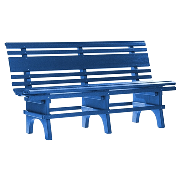 Park Bench St. Pete 4 or 5 ft. Recycled Plastic