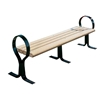 Hoop Recycled Plastic Bench with Steel Frame, 236 Lbs.