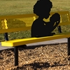 Social Distancing Silhouette for Benches and Tables Heavy-Duty Steel