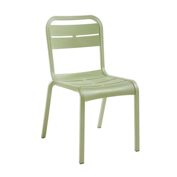 Cannes Stackable Armless Dining Chair with Fiberglass-Reinforced Resin Frame - 8.5 lbs.
