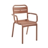 Cannes Dining Armchair Reinforced Stackable Frame - 10 lbs.
