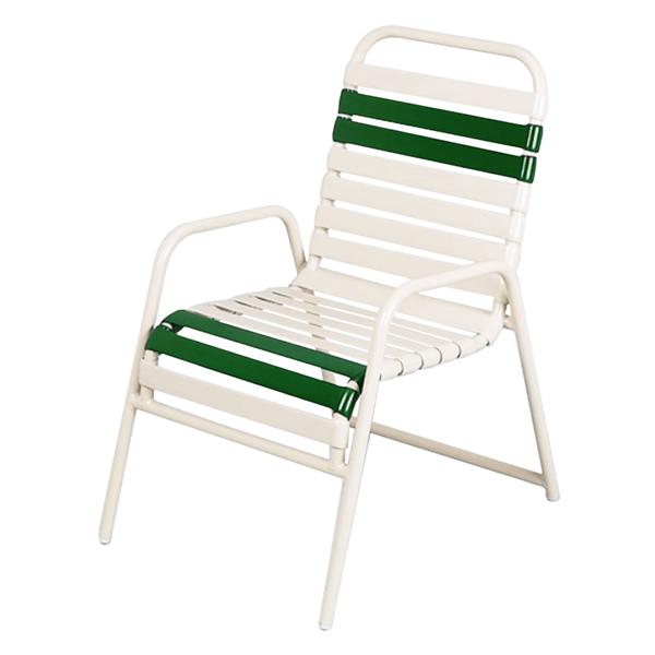 Daytona Vinyl Strap Commercial Chair Powder-Coated Aluminum Stackable