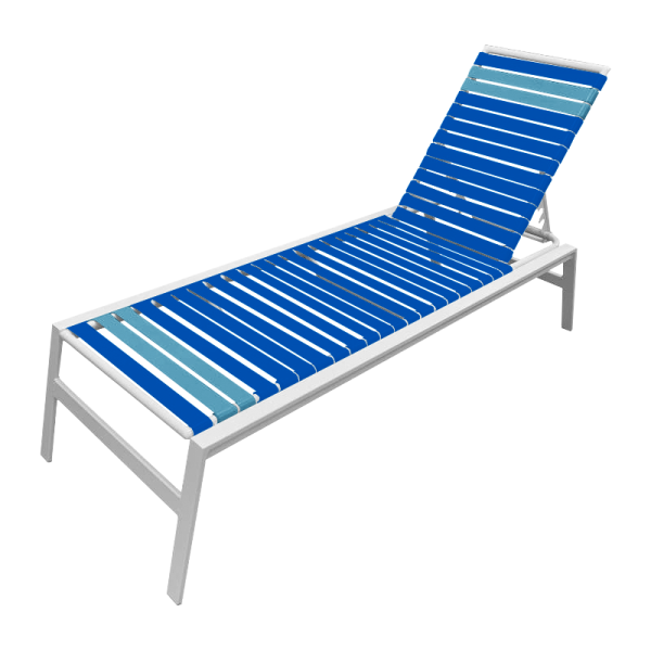 Waterside Vinyl Strap Chaise Lounge