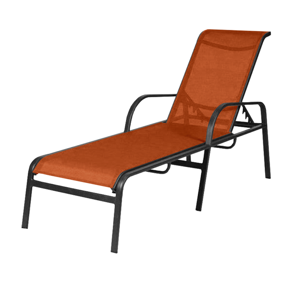 Ocean Breeze Sling Chaise Lounge with Arms