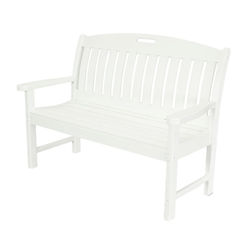 Polywood Nautical Style 48 In. Bench Recycled Plastic