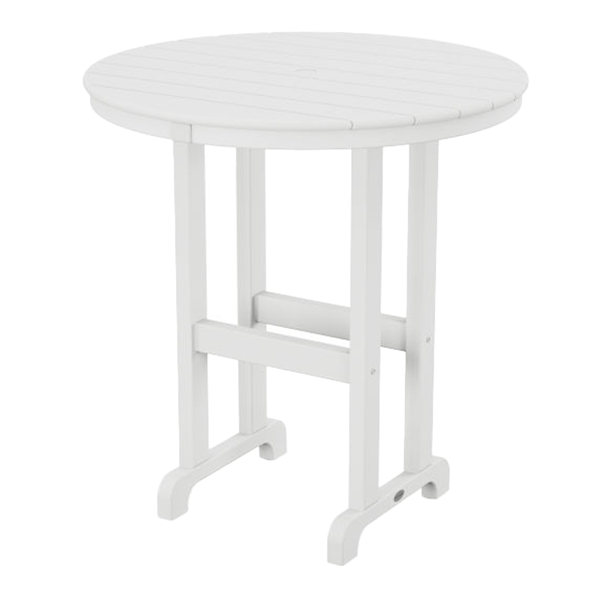 Polywood 36 Inch Round Counter Height Table Recycled Plastic