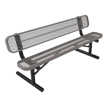 8 Ft. RHINO Thermoplastic Bench with Back