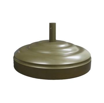 """Umbrella Base 23"""" Diameter Aluminum Filled With Concrete - 160 lbs."""