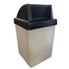 53 Gallon Concrete Trash Receptacle - Black Top