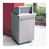 53 Gallon Concrete Trash Receptacle - Scene