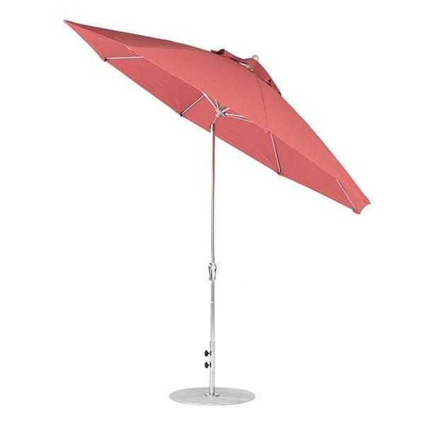 11 Foot Octagonal Fiberglass Auto Tilt Crank Market Umbrella