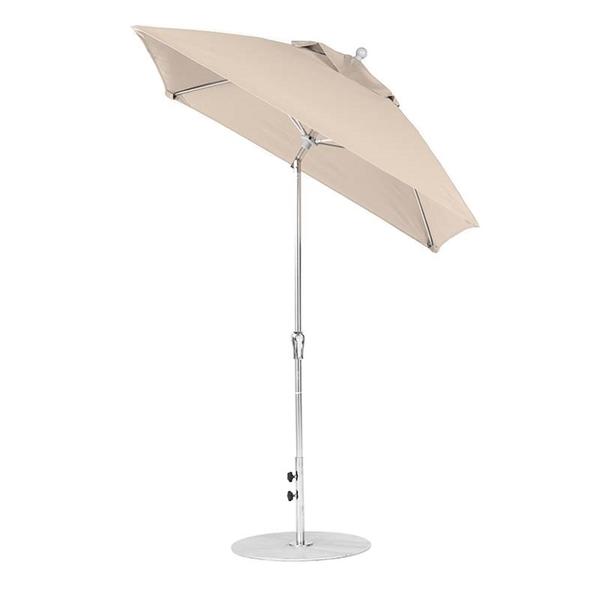 6.5 Ft Square Auto Tilt Crank Lift Fiberglass Market Umbrella