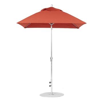 6.5 Ft Square Crank Lift Fiberglass Market Umbrella