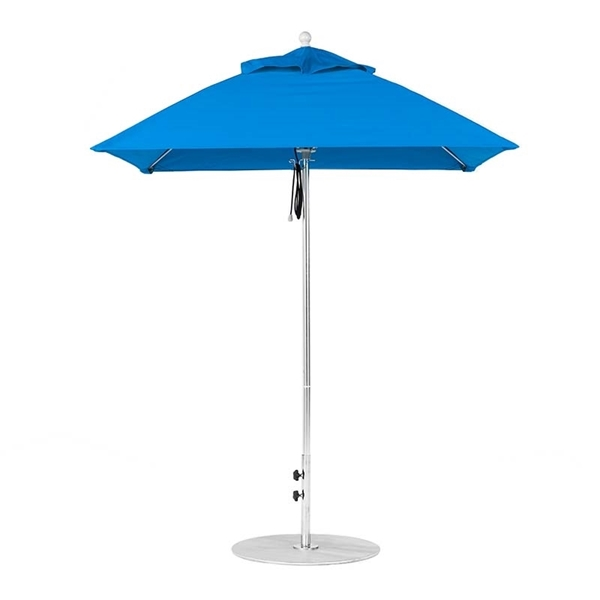 6.5 Foot Square Fiberglass Market Umbrella with Marine Grade Fabric