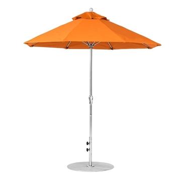 7.5 Foot Octagonal Crank Lift Fiberglass Market Umbrella
