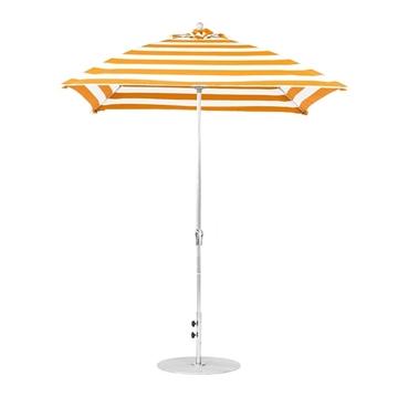 7 ½ ft. Square Fiberglass Market Umbrella with Crank Lift