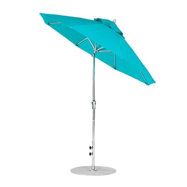 7.5 Foot Octagonal Auto Tilt Crank Lift Fiberglass Market Umbrella