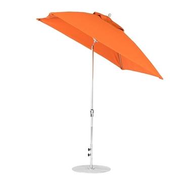 7 ½ ft. Square Fiberglass Market Umbrella with Auto Tilt Crank Lift