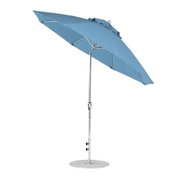 9 Foot Octagonal Fiberglass Auto Tilt Crank Lift Market Umbrella