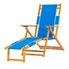 Oak Wood Beach Chair with Footrest