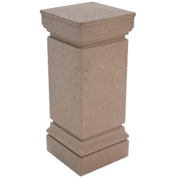 """13"""" Square Cartier Concrete Bollard With Beveling"""