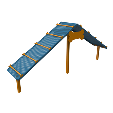 13 Ft. Punched Steel Dog Park Climbing Ramp