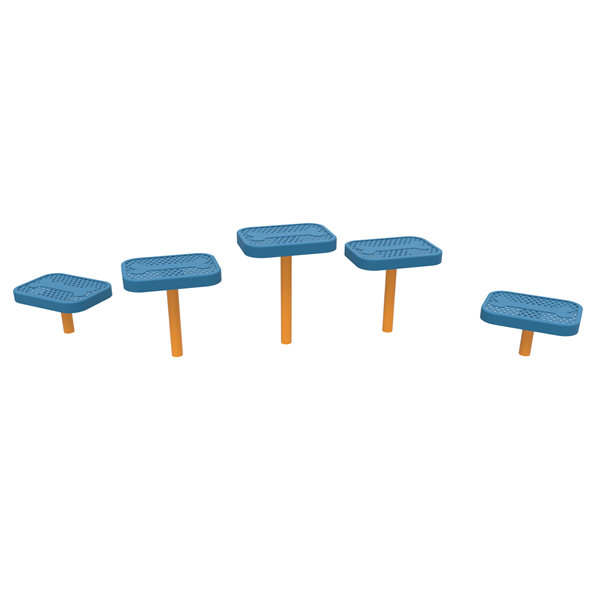 Dog Park Punched Steel Stepping Pads Pack Of 5