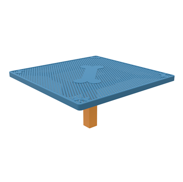"""46"""" Square Punched Steel Dog Park Jump-Up Table"""