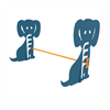 Dog Park Galvanized Steel Hurdle, Adjustable Height