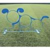 """24"""" Round Three Hoop Dog Park Steel Jump-Through"""