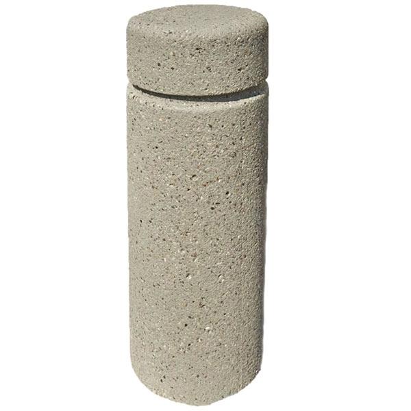 """12"""" Round Concrete Bollard With Flattop 30"""