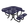 """46"""" RHINO ADA Accessible Octagonal Thermoplastic 3-Seat Picnic Table with Portable Frame"""