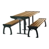 8 Ft. Recycled Plastic Picnic Table with Steel Frame, 545 Lbs.