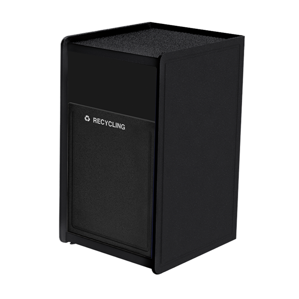 32-Gallon Side-Opening EarthCraft Plastic Trash Receptacle - 91 lbs.